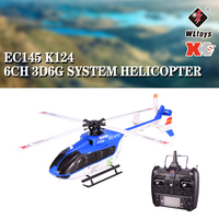 Wltoys XK EC145 K124 6CH Brushless Motor RC Helicopter3D 6G System Remote Control Toy Transmitter Compatible With FUTABA S FHSS