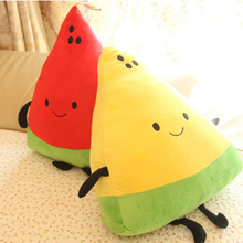 Plush Toy Cartoon Cute Expression Watermelon Pillow Filled Creative Fruit Doll Couple Children Holiday Gift