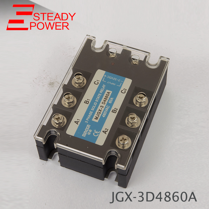 цена на Three Phase Solid State Relay DC to AC 80A 60A 80DA 80AA 60AA 60DA Actually 3-32VDC TO 24-380VAC SSR Series Relay Solid State