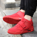 Size 39-46 2017 Fashion Spring Men Casual Shoes Red Suede Pu High Top Men Walking Shoes Breathable Winter Lover Boots Red Bottom