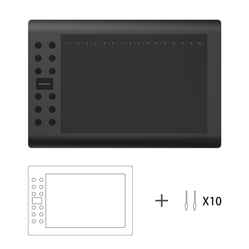 все цены на GAOMON M106K 10x6 inches Drawing Tablets Digital Tablet Graphics Tablet with 10 Replacement Nibs онлайн