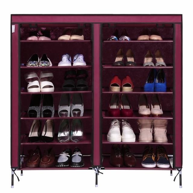 Homdox 6 Layer 12 Grid Portable Home Shoe Rack Shelf Storage Closet Furniture Organizer Cabinet