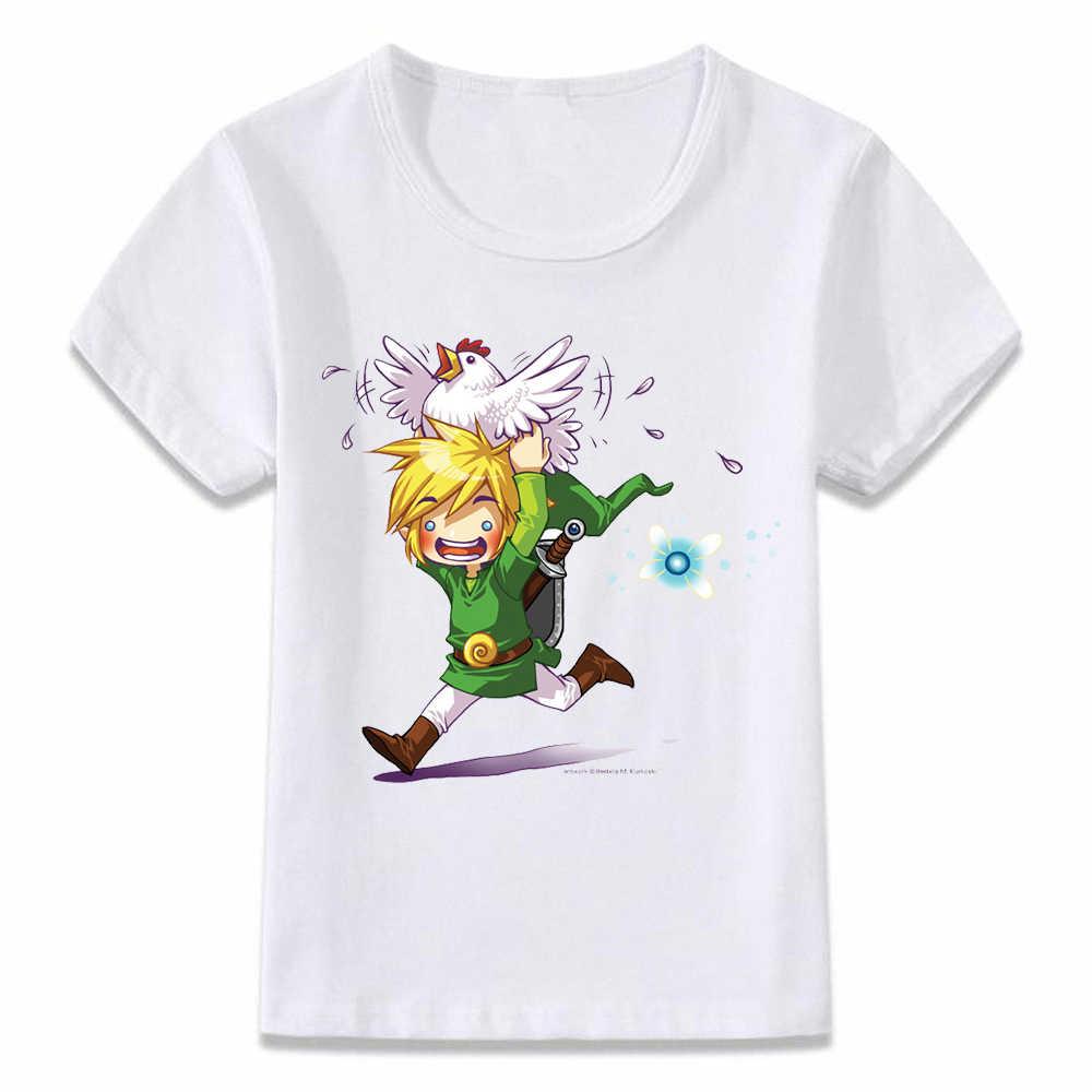 子供服 Tシャツリンクと Cucco 息野生のゼルダの伝説 Tシャツ少年少女のための幼児シャツ Tシャツ