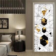 Abstract Geometric Ink Painting Wall Door Sticker Self-adhesive Waterproof 3D Wallpaper Decal Door Decor Wall Sticker Art Poster