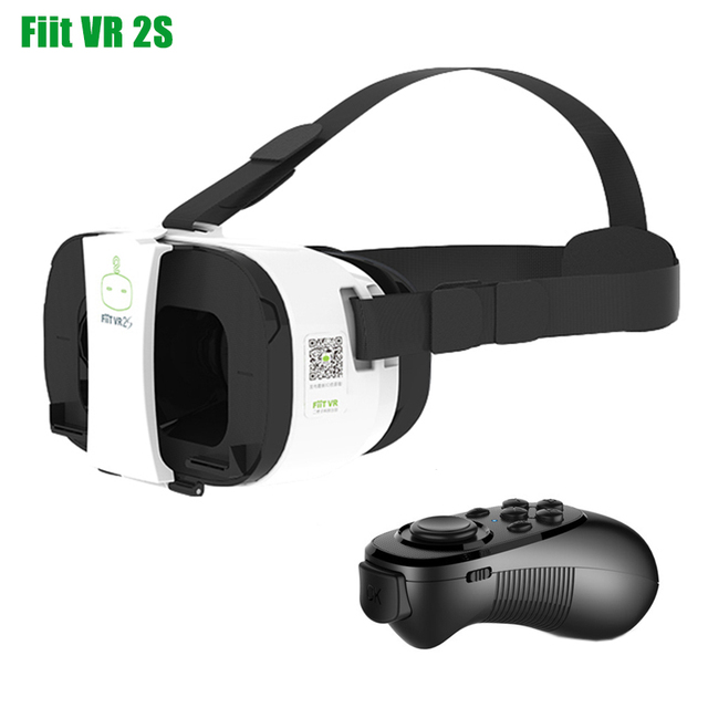 Game Video Models FIIT VR 2S Virtual Reality 3D Glasses Headset Head Mount Cardboard for 4-6' Phone + Bluetooth Remote Control
