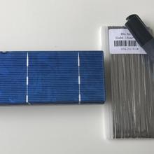 20 штук 156 мм* 52 мм солнечных батарей 1,4 W 0,5 V набор «сделай сам» для панели солнечных батарей 6x2 поликристаллический кремний солнечного сотовый+ достаточно закладок проволоки+ 1 шт. флюс ручка
