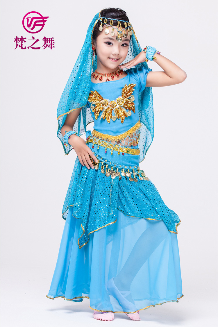 belly dance costume for children 5/7pcs indian kids belly dance wear