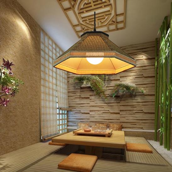 Bamboo Chinese rural grass vine tea restaurant creative pendant light Hot pot shop farmhouse restaurant retro lamps ZH zb20 new arrival modern chinese style bamboo wool lamps rustic bamboo pendant light 3015 free shipping