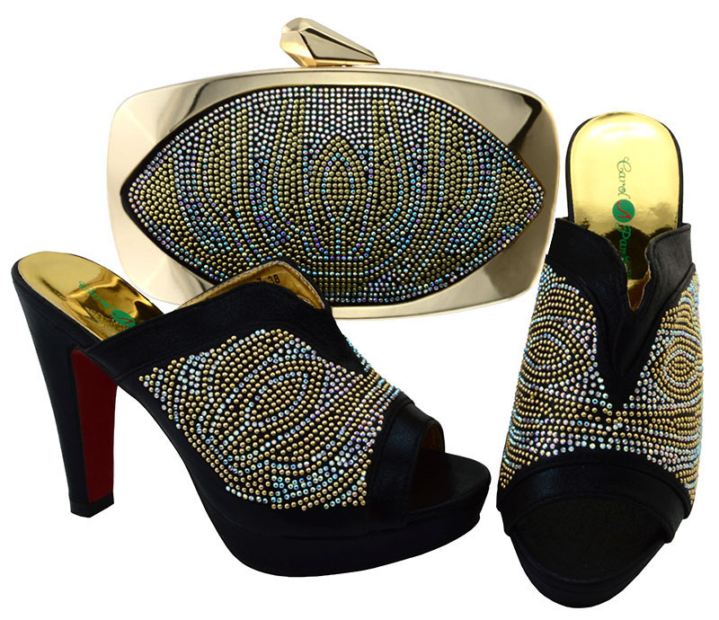 Italian Matching Shoes And Bag Set African Wedding Shoe Italy Sandal Shoe And Bag Set For Party High Heels Sandal Shoes BCH-27 doershow italian shoes with matching bags for party high quality african shoes and bags set for wedding shoe and bag pys1 10