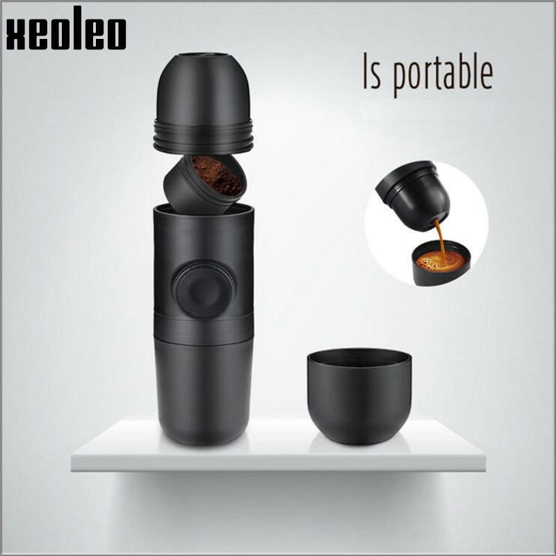XEOLEO Mini Hand press Coffee maker Manual Coffee machine 8 Bar Espresso machine Portable travel Minipresso Coffee machine portable coffee maker manual coffee making machine coffee filter hand travelling french press pot 350 pcs metal filter paper