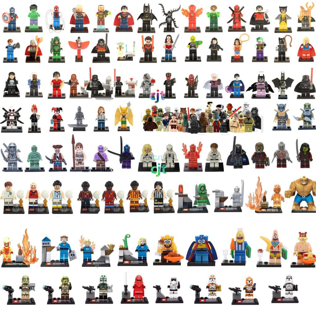 8pcs/lot Marvel Super Heroes Avengers Minifigures Building Blocks Sets Anime Bricks Toys Compatible star wars Figures