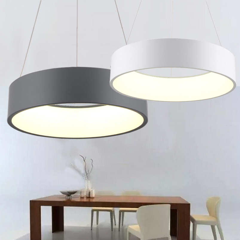 600mm 36W Modern fashion circle hanging lamp dining room living room pendant lamp bedroom suspend light led chandelier a1 master bedroom living room lamp crystal pendant lights dining room lamp european style dual use fashion pendant lamps