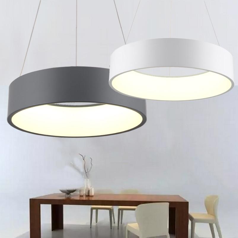 600mm 36W Modern Fashion Circle Hanging Lamp Dining Room Living Room Pendant Lamp Bedroom Suspend Light Led Chandelier