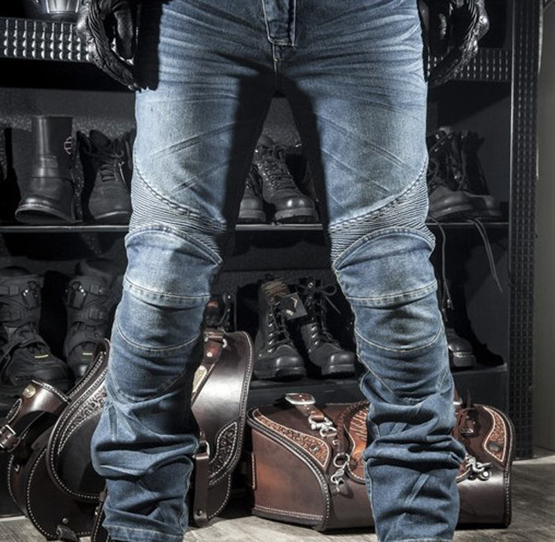 Classic KOMINE Motorcycle Jeans Drop Resistance Denim Cycling Racing Trousers Motocross Off-road Hockey Protective Pants недорго, оригинальная цена