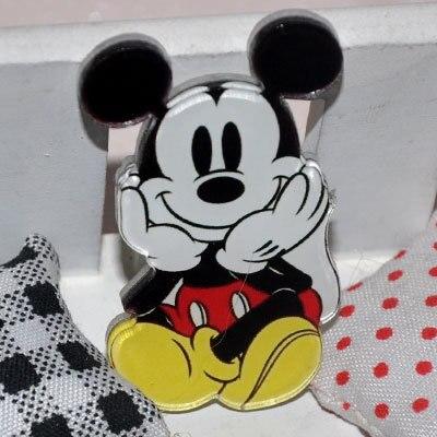 1 шт. очаровательные комбинезоны с рисунком «Микки Маус» Аксессуары Minnie Kawaii аниме значки с героями мультфильмов акриловые заколки Брошь на рюкзак сумки декоративные для девочек подарок на день рождения