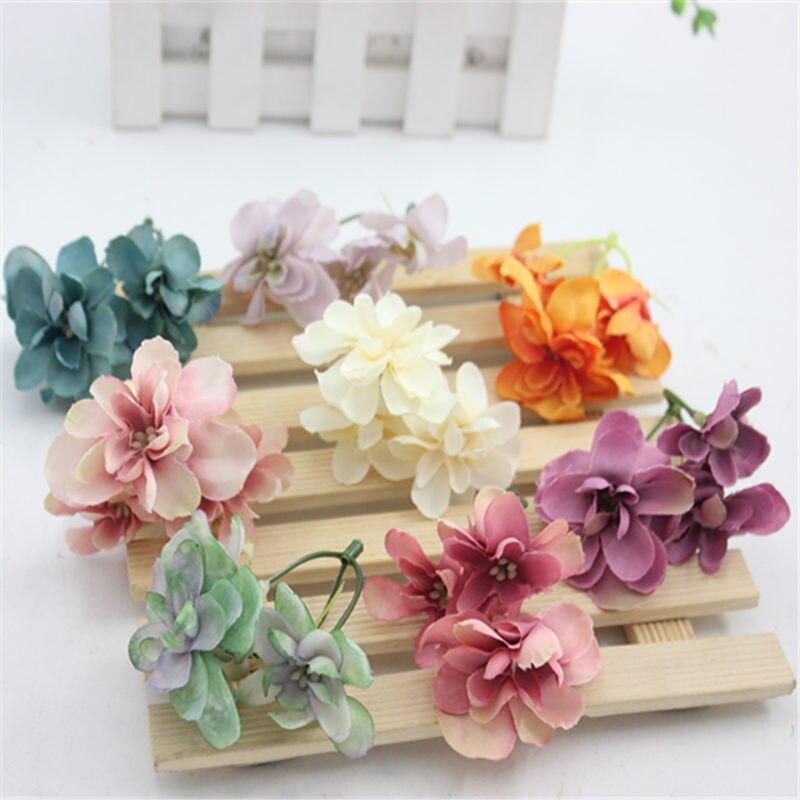 1pcs Retro silk hydrangea cheap Artificial Flowers For wedding car decora fake flower wreath material Bride headdress simulation