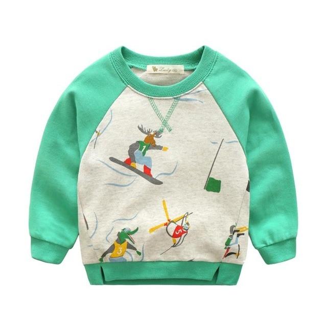 18M-7T years boys T-shirt Kids Tees Baby boy brand t shirts Children Hoodies Long Sleeve 100% Cotton boy cartoon Sweatshirt