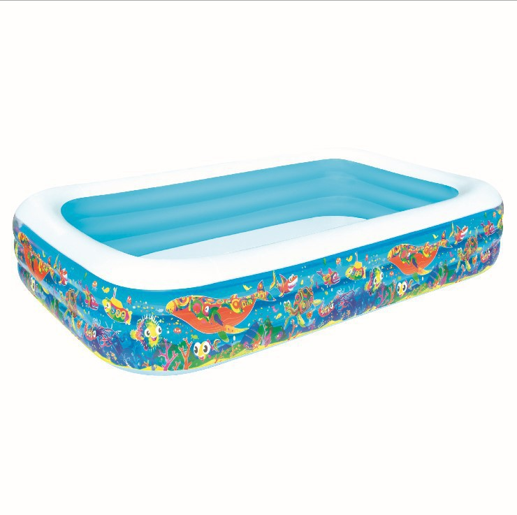 aliexpresscom buy vilead 305183cm three ring rectangular inflatable pool baby bath swimming pool ball pool family swimming pool 1160l water from