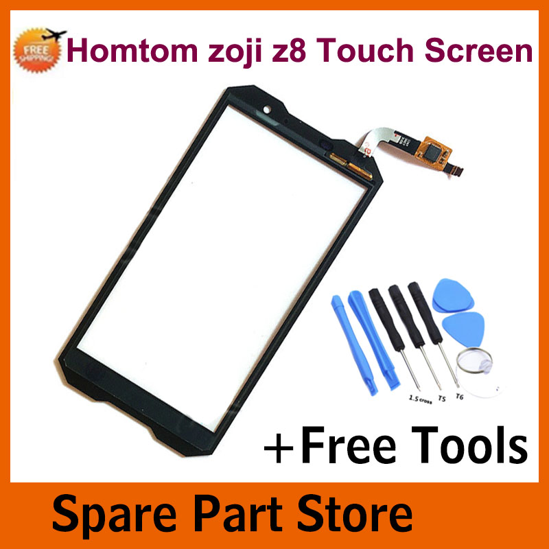 Angcoucoux For Homtom Zoji Z8 4G Smartphone 5.0 Touch Screen Digitizer Front Glass Panel Sensor Spair Parts +Free Tool