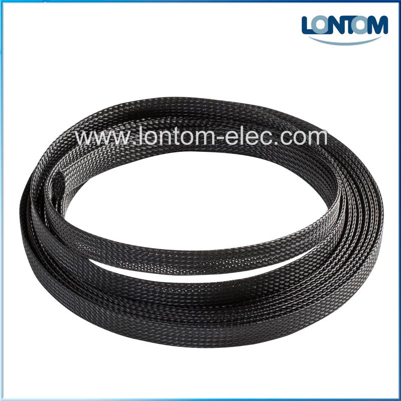 100M 12.0mm Black Braided Expandable Cable Sleeve Tight PET High Density Wire Sleeve Sheathing100M 12.0mm Black Braided Expandable Cable Sleeve Tight PET High Density Wire Sleeve Sheathing