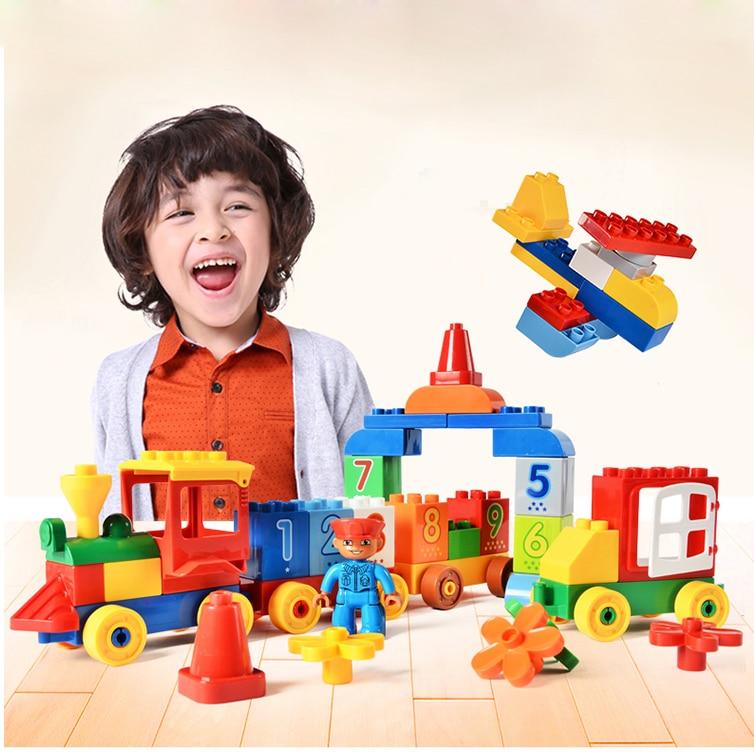 75/66 / 65PCS grands blocs de briques de mon premier numéro - Concepteurs et jouets de construction - Photo 5