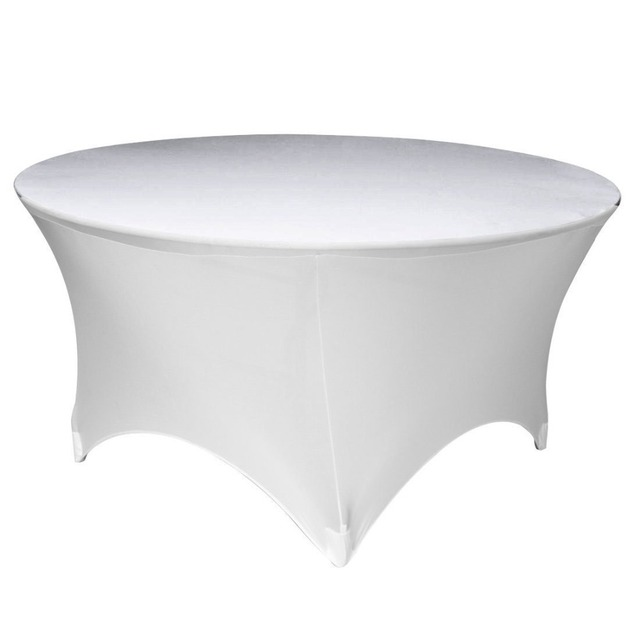 Quality LA Linen Spandex Tablecloth, 60 By 30 Inch White For Weeding Event  Party