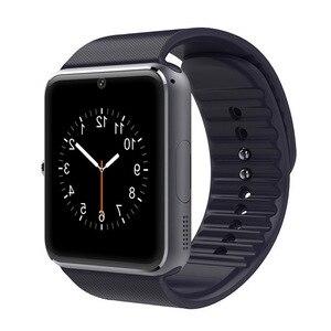 Image 2 - Montre intelligente bluetooth grand écran tactile support carte SIM rappel de message dappel Bracelet intelligent bande Tracker de Fitness pour hommes femmes
