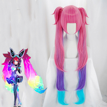 Game Arena of Valor Cosplay Wigs Hacker Girl Angela Wig Heat Resistant Synthetic Halloween Carnival Party