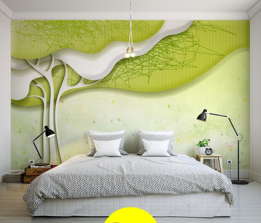 Custom Modern contracted 3D abstract tree wallpaper papel de parede,living room sofa TV wall children bedroom large murals custom papel de parede infantil space shuttle orbiting earth 3d cartoon mural for children room bedroom wall vinyl wallpaper