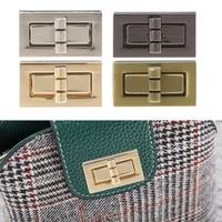 Rectangle forme fermoir tourner serrure torsion serrures bricolage en cuir sac à main sac matériel en métal élégant nouveau sac accessoires