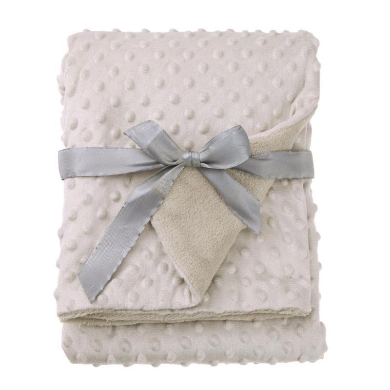 100*70cm Newborn Baby Blanket Soft Warm Fleece Stroller Sleep Cover Infant Bedding Quilt Swaddling Wrap Kids Bath Towel