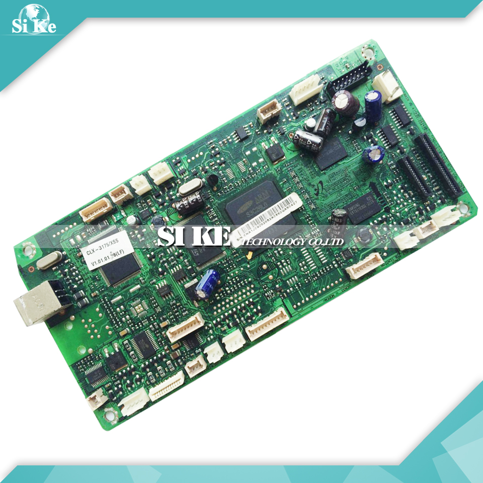 Laser Printer Main Board For Samsung CLX-3175 CLX 3175 CLX3175 Formatter Board Mainboard Logic Board toner powder and chip for samsung 506 clt 506 for clp 680 clx6260fw clx 6260nd clx 6260nr laser printer hot sale