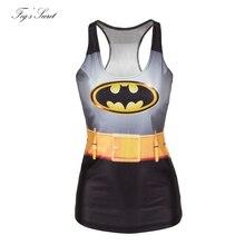 2018 Summer T Shirt Woman Catton Vest Tops Tees T shirt Sleeveless hero batman Digital printing