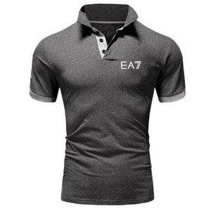 2019 العلامة التجارية ملابس الرجال قميص بولو الرجال الأعمال عارضة الصلبة الذكور قميص بولو قصيرة الأكمام عالية الجودة الرجال الملابس