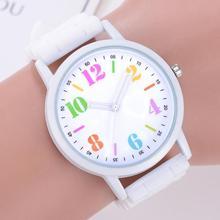 Fashion Unisex Student Wristwatch Silicone Strap Analog Quar