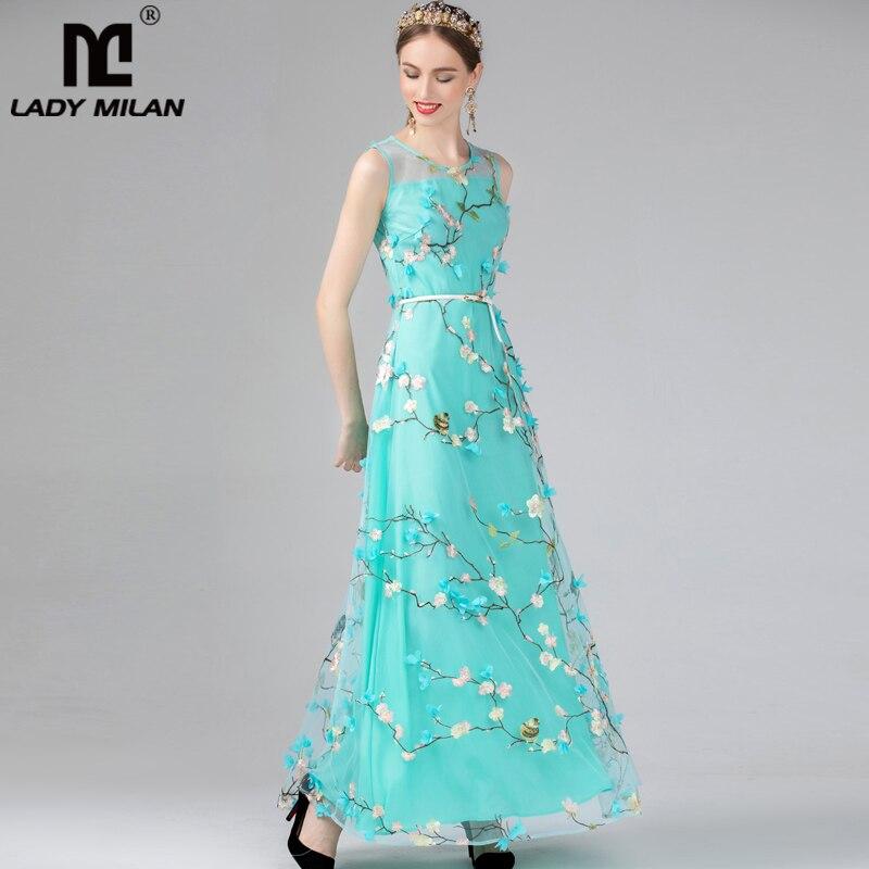 Lady Milan 2019 Women S O Neck Sleeveless Embroidery