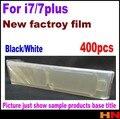 400pcs for iPhone 7 7g 4.7 5.5 Original qualtiy Front+Back Plastic Seal Factory Screen Protector Film Black/White  Factory Film