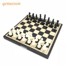 Купить с кэшбэком High Quality Chess Magnetic Mini Portable Plastic Chess Set Board Games For Friends Children's & Kid Entertainment Gift qenueson