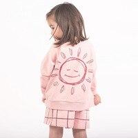 ガールtシャツ子供服2018春の秋ブランド女の子トップスtシャツロングスリーブ太陽印刷子供tシャ