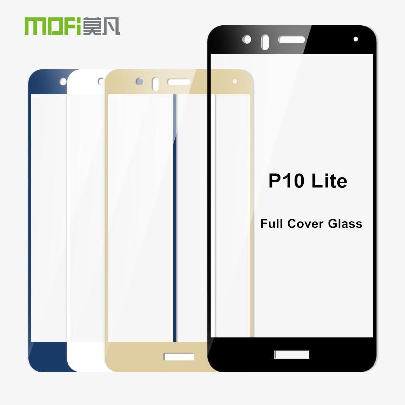 Huawei P10 Lite Verre Trempé 5.2 pouce MOFi Pleine Couverture de protection Film P10 Lite Protecteur D'écran Huawei P10 Lite Trempé verre