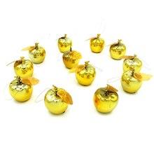 12 Uds. Decoración de Navidad manzana árbol adorno colgante casa Año Nuevo Fiesta eventos fruta colgante DTT88