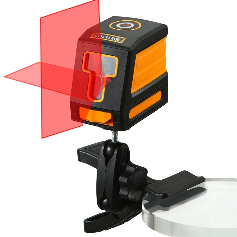 2 Lines Laser Level Self-leveling Red Cross Laser Lines IP54 with Bracket Clip2 Lines Laser Level Self-leveling Red Cross Laser Lines IP54 with Bracket Clip