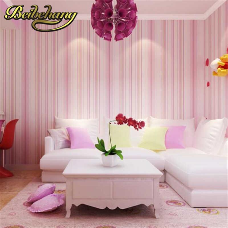 Beibehang домашний декор papel де parede 3d обои рулон синий розовый обои дети обои полоса обои Детская гостиная