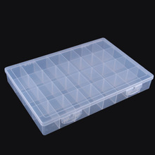 36 check Plastic Comparted Tool Collect Case Components Box