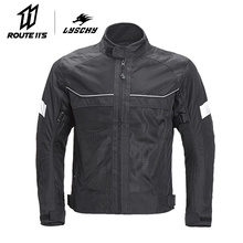 LYSCHY Motorcycle Jacket Motorbike Riding Breathable For Moto Cross Summer Clothing