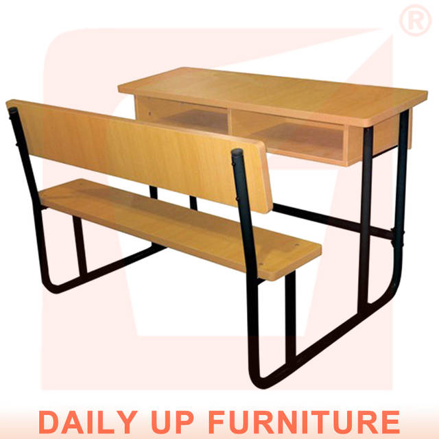 Two Seater School Table Bench For Student Double Student Desk And