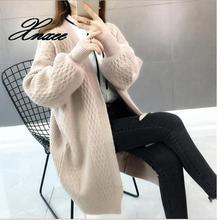 Autumn women's sweater long women's 2020 new loose knit cardigan coat 2019 autumn new twist pocket sweater coat female long loose loose knit cardigan