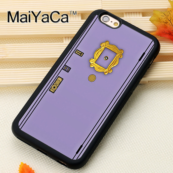 MaiYaCa Friends Sitcom Monica's Flat Doors Printed Phone Case for iPhone 6 6s Capa Fundas Case For iphone 6s Back Shell Cover