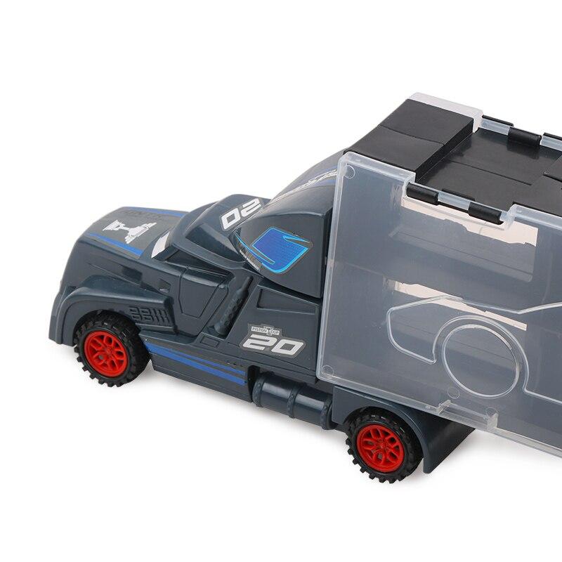 7pcs Disney Pixar Cars 3 Lightning Mcqueen Jackson Storm Mack Uncle Truck 1:55 Diecast  Model Birthday Gift Toy For Boy Kid #4
