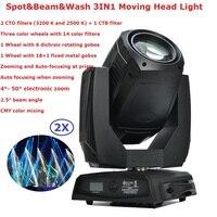 Новые 440 Вт гобо перемещение головы луч мыть Точечные светильники 2 гобо колёса 2 Сменные вращающиеся призмы Professional Stage показывает оборудова